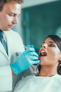Patient getting a composite dental fillings in Chelsea MA